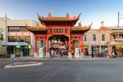 Chinatown Adelaide Paifang Lizenzfreie Stockfotos