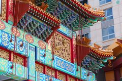 Chinatown Arch, Washington. D.C. United States capital city Royalty Free Stock Images