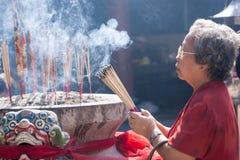 Chinatown, Bangkok, durante el Año Nuevo chino Imágenes de archivo libres de regalías