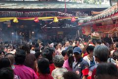 Chinatown, Bangkok, durante el Año Nuevo chino Foto de archivo