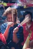 Chinatown, Bangkok, durante el Año Nuevo chino Fotos de archivo libres de regalías