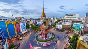 Chinatown Bangkok, Thailand arkivfilmer