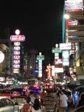 Chinatown,Bangkok,Thailand. Night at Yaowarat road street market Royalty Free Stock Images