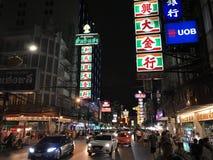 Chinatown,Bangkok,Thailand. Night at Yaowarat road street market Stock Photos