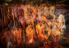 Chinatown Barbecue Duck Royalty Free Stock Photos