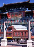 Chinatown brama, Vancouver obrazy stock