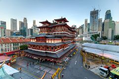 Chinatown Buddha Tooth Relic Temple stock image
