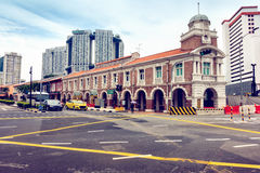 Chinatown and business downtown in Singapore., Junction street s Stock Photo