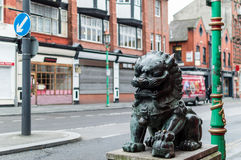 Chinatown - Chinese Lion C. ENGLAND, LIVERPOOL - 15 NOV 2015: Chinatown - Chinese Lion C Stock Photos