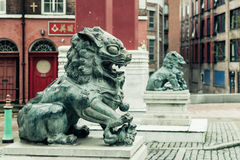 Chinatown - Chinese Lion D. ENGLAND, LIVERPOOL - 15 NOV 2015: Chinatown - Chinese Lion D Stock Photo