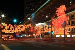 Chinatown de Singapour Image libre de droits