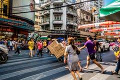 Chinatown di Bangkok, Tailandia Fotografia Stock