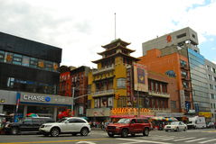 Chinatown district in the summer, NYC Stock Photography