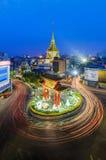 Chinatown dorata e tempio a Bangkok Immagini Stock