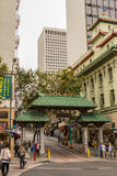 Chinatown Dragon Gate in San Francisco Royalty Free Stock Photography