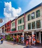 Chinatown dziedzictwa centre tworzy? w?rodku historycznie ikonowych projektuj?cych budynk?w lokalizowa? w Porcelanowym miasteczku obrazy royalty free