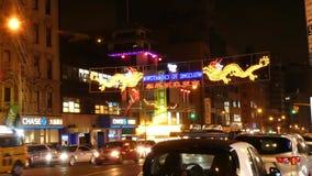 Chinatown en New York City almacen de metraje de vídeo