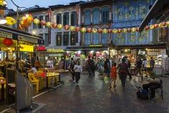 Chinatown en Singapur foto de archivo