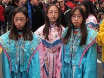 chinatown festivaltonåringar Royaltyfri Fotografi
