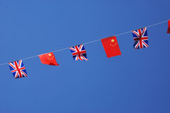 Chinatown flags Stock Images