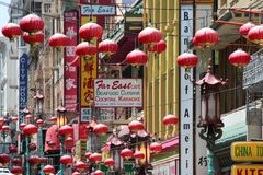 chinatown francisco san Arkivfoto