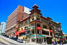 chinatown francisco san Royaltyfri Foto