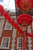 Chinatown Gate Lanterns Royalty Free Stock Images