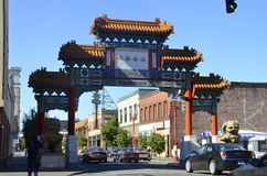 Chinatown gate in Portland, Oregon. Gate at the entrance of Chinatown in Portland, Oregon Royalty Free Stock Images