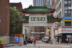 Chinatown Gateway in Boston, Massachusetts Stock Images