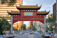 Chinatown Gateway in Montreal, Canada. Chinatown Gateway at the entrance of Montreal Chinatown at Boulvard St-Laurent in Montreal, Quebec, Canada Royalty Free Stock Image