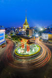 Chinatown golden and temple in Bangkok. At night Stock Images