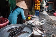 Chinatown in Ho Chi Minh City Lokale Markt vietnam Royalty-vrije Stock Afbeeldingen