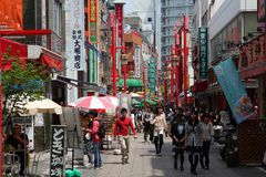 Chinatown i Kobe, Japan Royaltyfri Foto