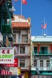 Chinatown i San Francisco Kalifornien USA Arkivbild