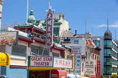 Chinatown i San Francisco Kalifornien USA Arkivfoto