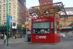 Chinatown Information Kiosk. New York City receives nearly 47 million tourists a year. A Chinatown information kiosk Royalty Free Stock Photography