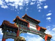 chinatown ingång till Arkivbild