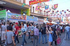 Chinatown jesieni księżyc Roczny festiwal Zdjęcie Royalty Free