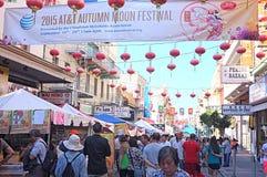 Chinatown jesieni księżyc Roczny festiwal Obrazy Royalty Free