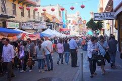 Chinatown jesieni księżyc Roczny festiwal Obraz Royalty Free
