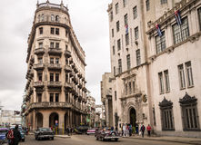 Chinatown in La Havana, Cuba. Havana, Cuba on January 13, 2016: View of street in chinatown Royalty Free Stock Photo