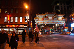 Chinatown la nuit dans le Washington DC Image stock