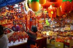 Chinatown a la víspera del Año Nuevo chino Imagen de archivo
