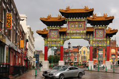 Chinatown. Liverpool. l'Angleterre Images libres de droits