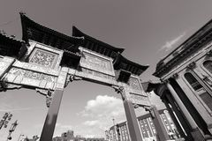 Chinatown in Liverpool, UK Royalty Free Stock Photos