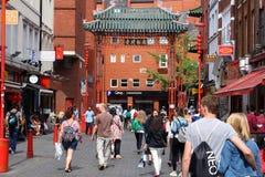 Chinatown Londen het UK Royalty-vrije Stock Afbeelding