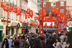 chinatown london arkivbild