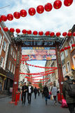 Chinatown in London England Stock Image