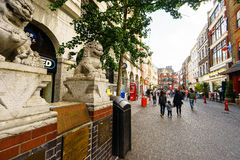 Chinatown in London England Royalty Free Stock Photo
