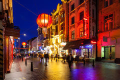 Chinatown London Night Time Royalty Free Stock Photography